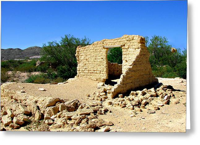 Terlingua Texas Ghost Town Greeting Card by Linda Cox