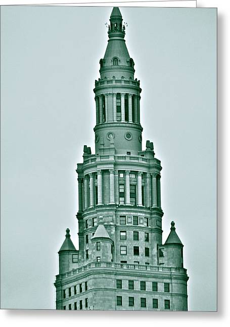 Terminal Tower Greeting Card by MB Matthews