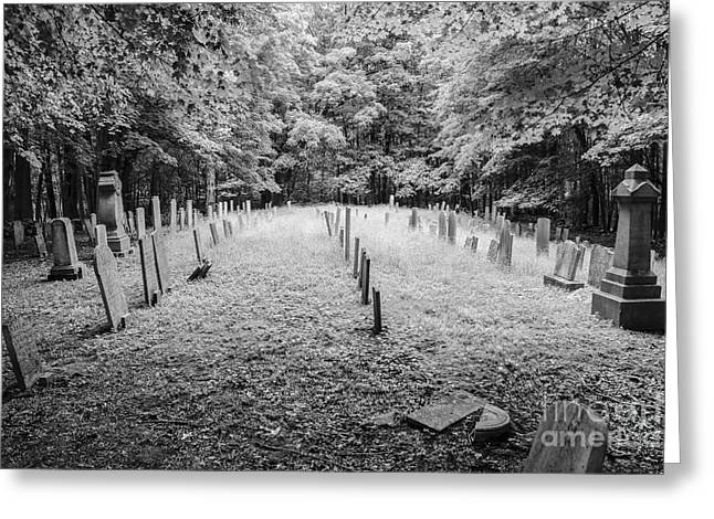 Terpenning Cemetery B And W Greeting Card