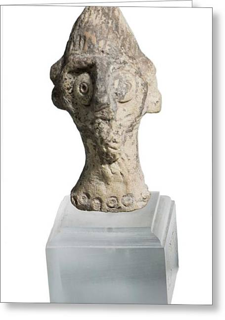 Terra-cotta Figurine Head Greeting Card by Photostock-israel