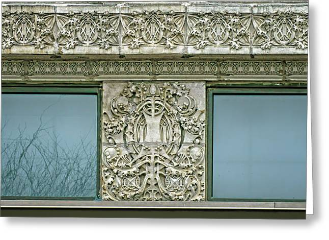 Terra Cotta Frieze And Medallion - Securities Building - Omaha Greeting Card