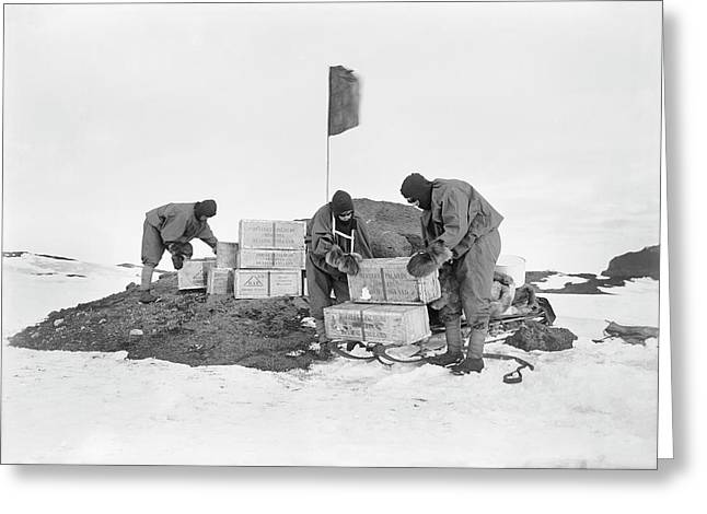Terra Nova Antarctic Depot Laying Greeting Card