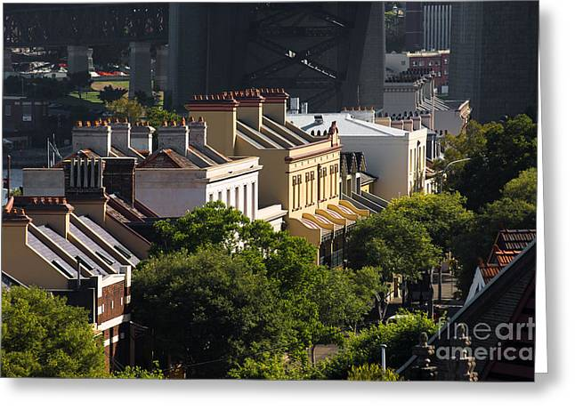 Terrace Houses In The Rocks Area Of Sydney Greeting Card
