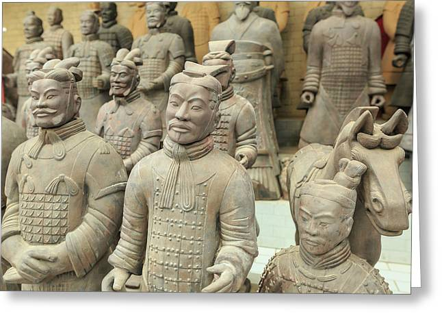 Terracotta Warrior's Factory, Xi'an Greeting Card by Stuart Westmorland