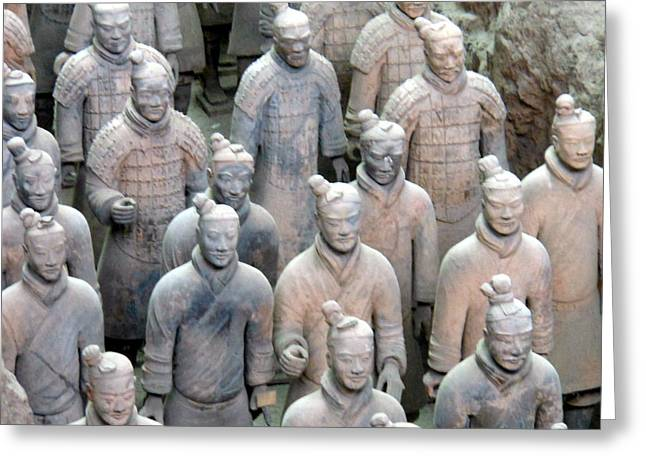 Greeting Card featuring the photograph Terracotta Warriors by Kay Gilley
