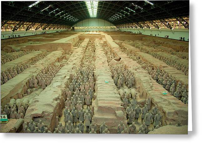Terracotta Warriors Of China Greeting Card by Rory Wallwork
