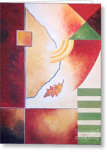 Greeting Card featuring the painting Terraform 2- Taos Series by Arthaven Studios