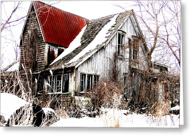 Terrance Laird Farm House Thedford Greeting Card