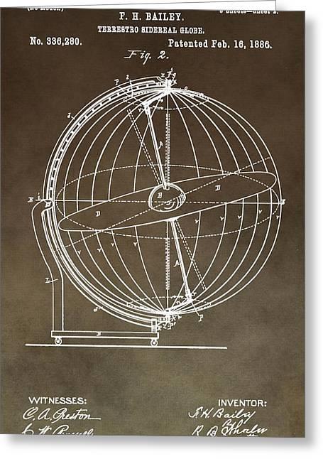 Terrestro Sidereal Globe Greeting Card