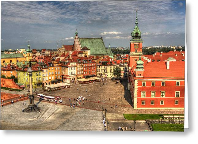 Terrific Warsaw - The Castle And Old Town View Greeting Card