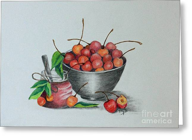 Cherry Jelly Greeting Card by Terri Mills