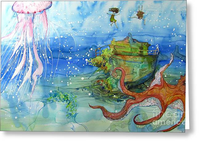 Territory Greeting Card by Maya Simonson