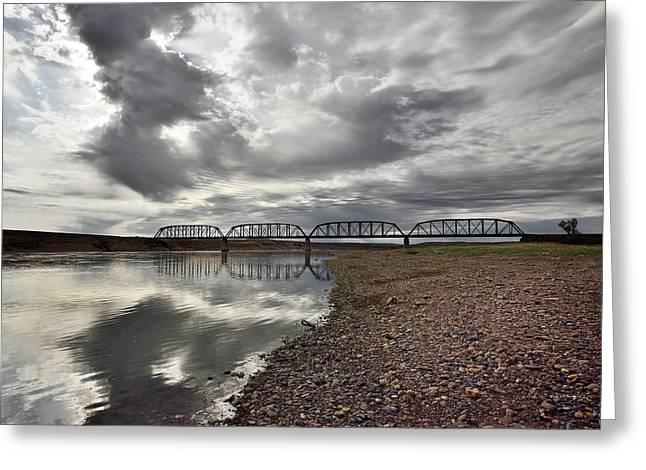 Terry Bridge Greeting Card by Leland D Howard