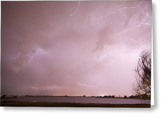 Terry Lake Lightning Thunderstorm Greeting Card by James BO  Insogna