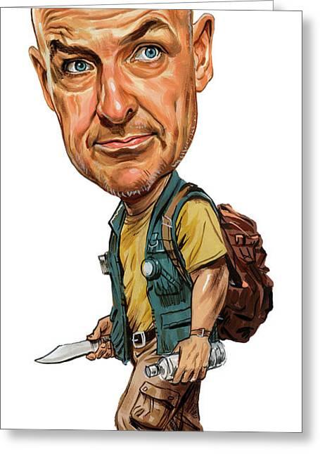 Terry O'quinn As John Locke Greeting Card by Art