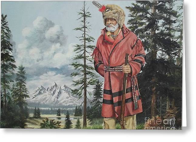 Terry The Mountain Man Greeting Card