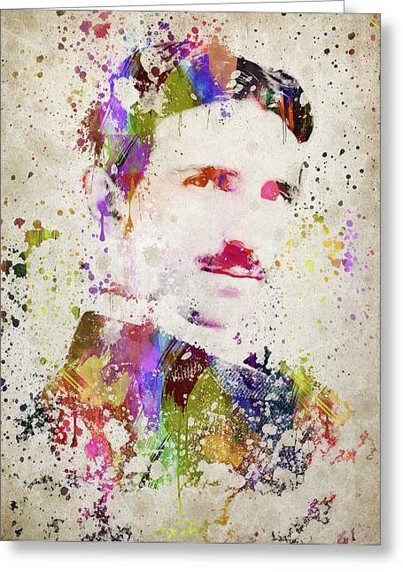Tesla In Color Greeting Card