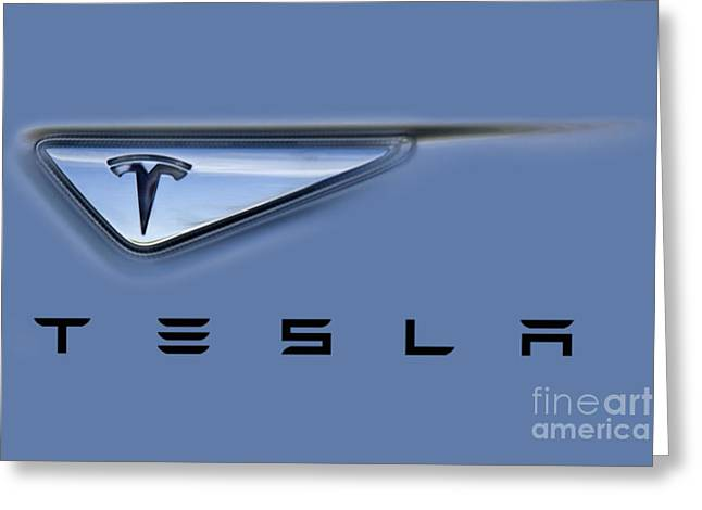 Tesla Model S Greeting Card by David Millenheft