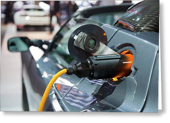 Tesla Roadster Electric Sports Car Greeting Card by Jim West
