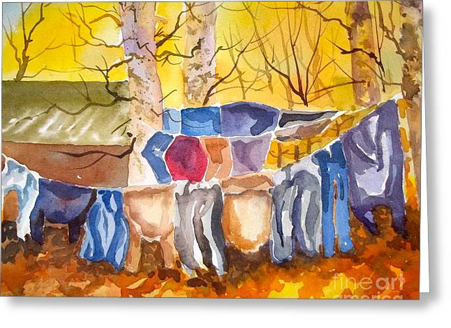 Tess Anne's Laundry Greeting Card