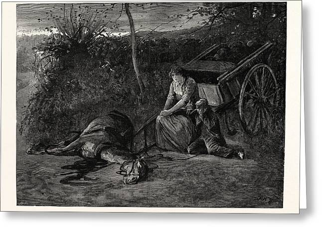 Tess Of The Durbervilles In Stagnant Blackness They Waited Greeting Card by English School