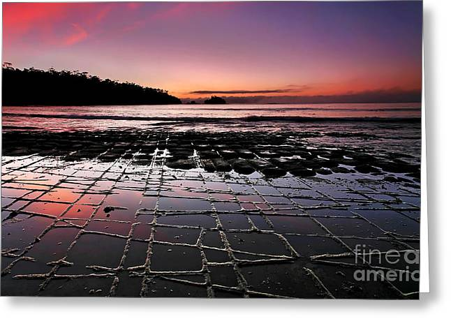 Tesselated Pavement Sunrise Greeting Card by Bill  Robinson