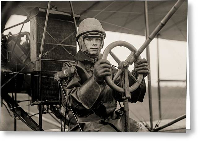 Test Of A Curtiss Plane Circa 1912 Greeting Card by Aged Pixel