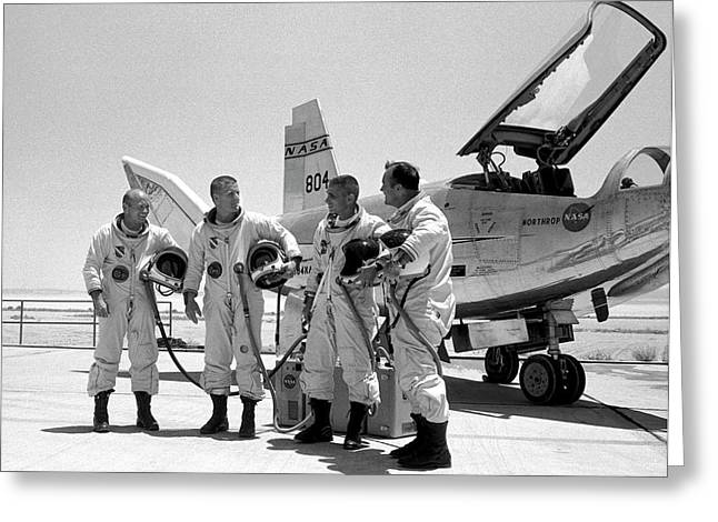 Test Pilots And Northrop Hl-10 Greeting Card by Nasa