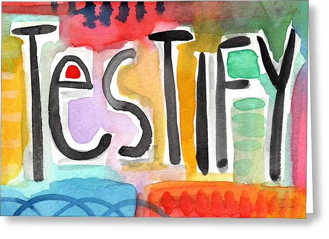 Testify Greeting Card- Colorful Painting Greeting Card