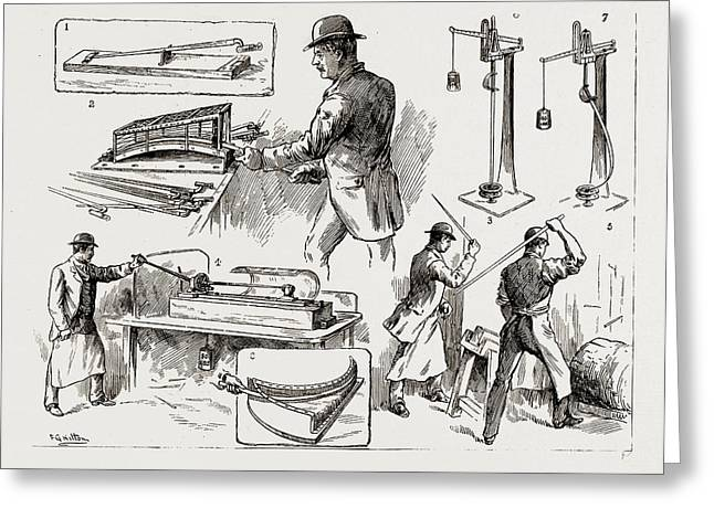 Testing Bayonets And Cavalry Swords At The Royal Small Arms Greeting Card
