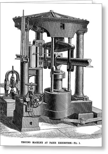 Testing Machine, 1878 Greeting Card by Granger