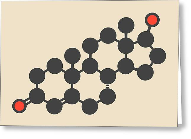 Testosterone Male Sex Hormone Molecule Greeting Card by Molekuul