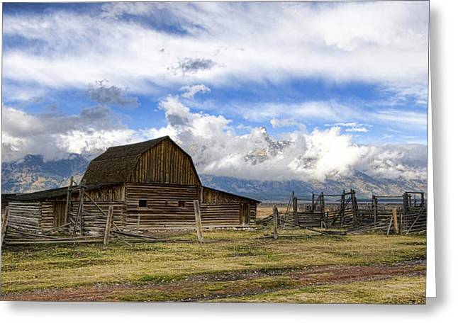 Greeting Card featuring the photograph Teton Barn 2 by David Armstrong