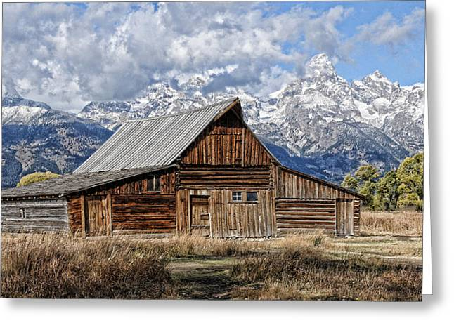 Greeting Card featuring the photograph Teton Barn 3 by David Armstrong
