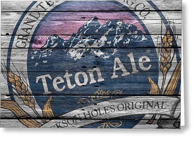 Teton Brewing Greeting Card by Joe Hamilton