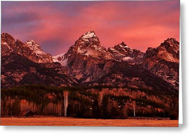 Greeting Card featuring the photograph Teton Color by Benjamin Yeager