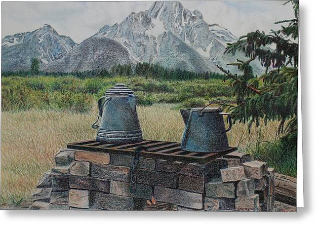Teton Cook Site Greeting Card