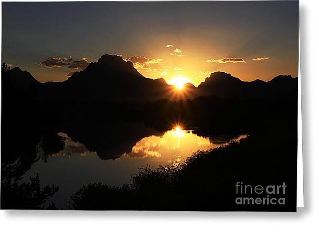 Teton Double Star Greeting Card by Clare VanderVeen