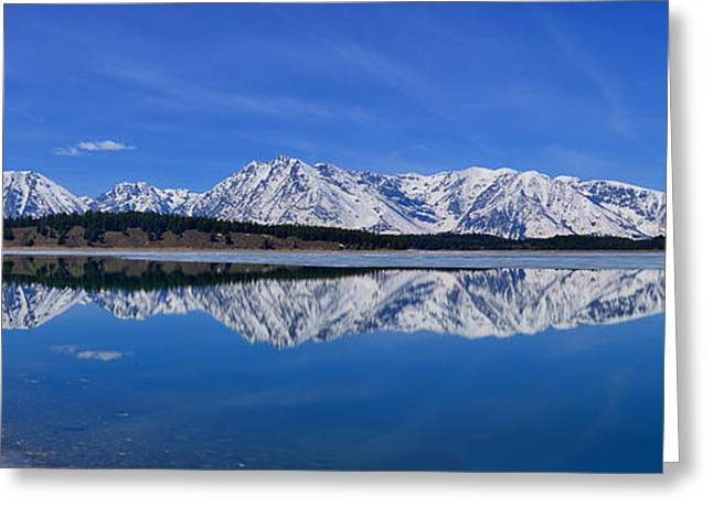 Teton End Of Winter Reflections Greeting Card