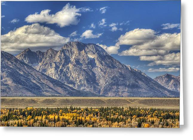 Teton Glory Greeting Card by Mark Kiver