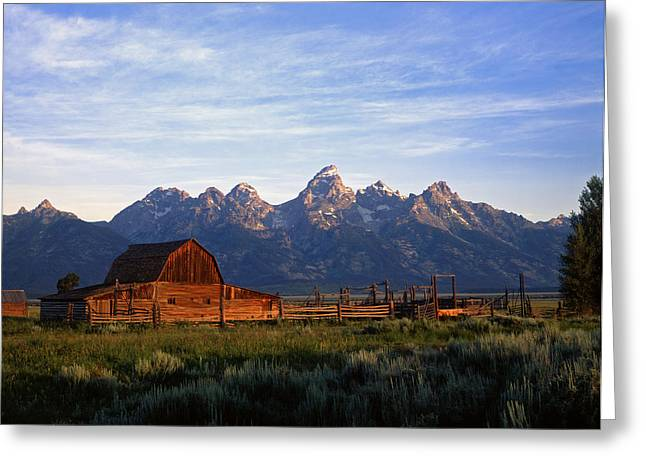 Teton Ranch Autumn Greeting Card by Mike Norton