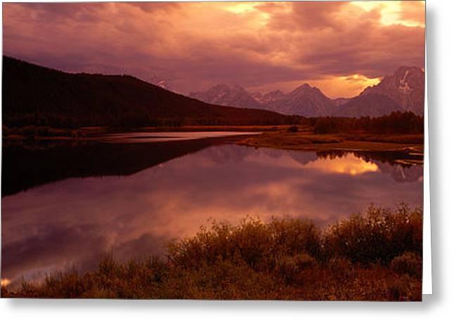 Teton Range, Mountains, Grand Teton Greeting Card by Panoramic Images