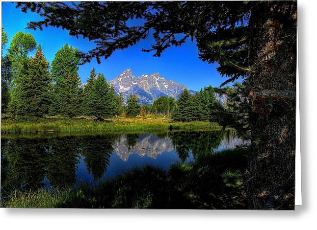 Greeting Card featuring the photograph Teton Reflection by Yeates Photography