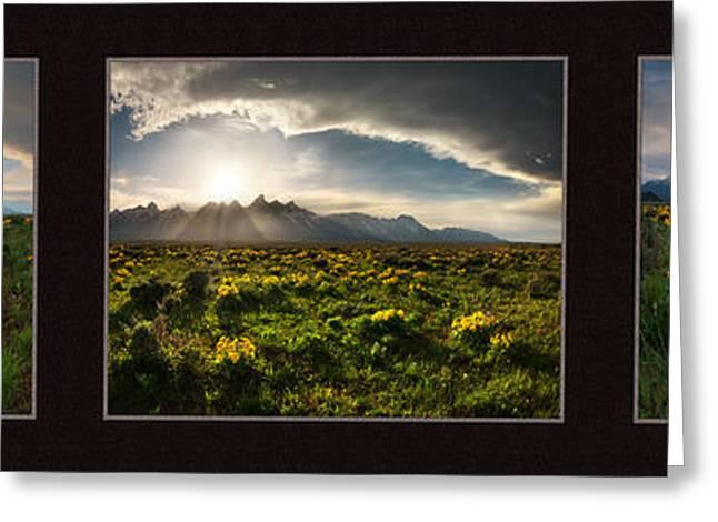 Teton Spring Triptych Greeting Card