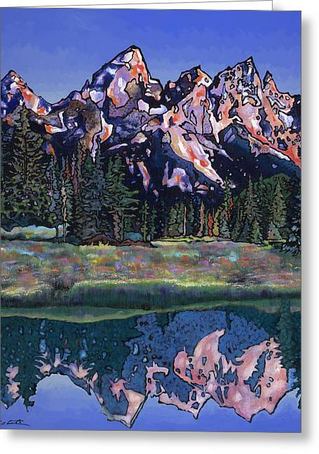 Greeting Card featuring the painting Teton Summer by Bob Coonts