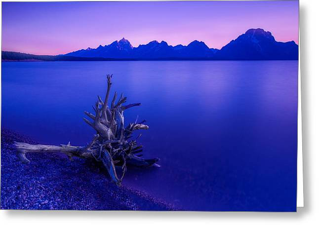 Teton Summer Sunset Greeting Card by Jerry Patterson