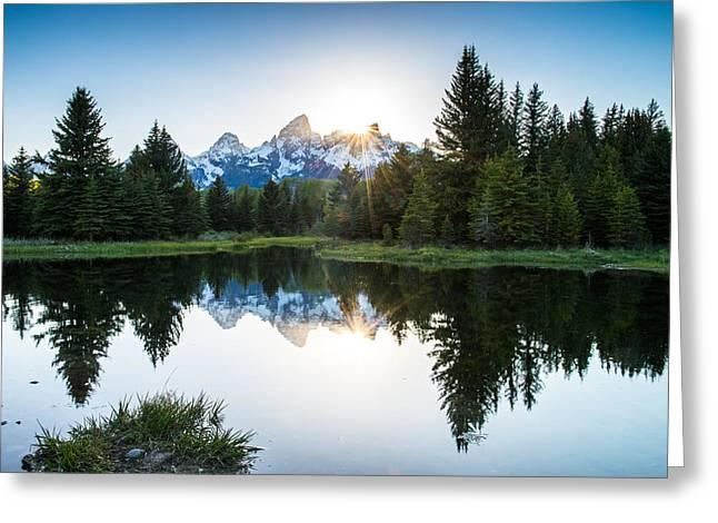Teton Sun Greeting Card