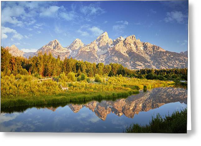 Teton Sunrise Greeting Card by Rob Hemphill