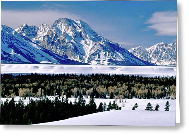 Teton Valley Winter Grand Teton National Park Greeting Card by Ed  Riche