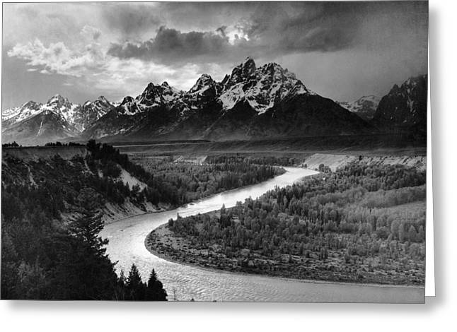 Tetons And The Snake River Greeting Card